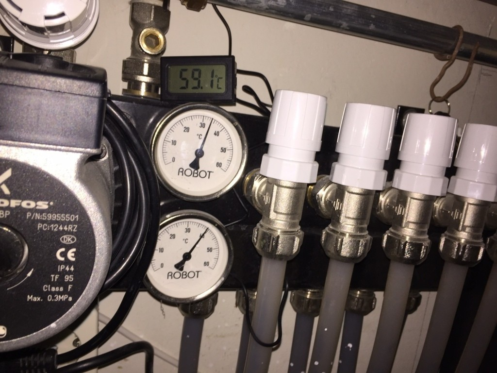 Temperatuur instellen vloerverwarming